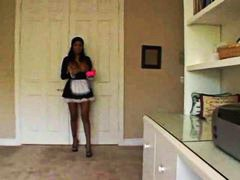 French maid cleans the... from Alpha Porno