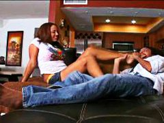 Ebony Footjob 10