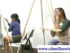 Cfnm girls drawing nak...