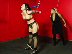 Asian babe tied up and...