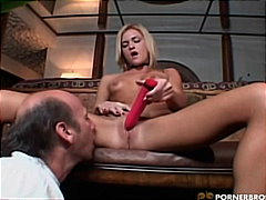 PornerBros - Solo Blonde With A Dildo