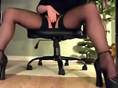 Leggy secretary under ...
