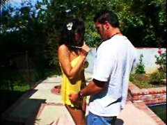 Sweet one gets it outdoor from Redtube