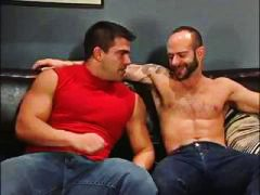 2 muscle men share sto...