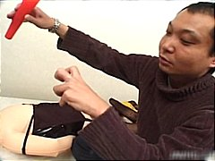 Bound asian babe gets ...