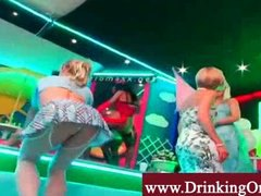 Orgy blonds show off t...