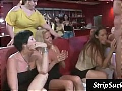 Stripper at a wild gir...