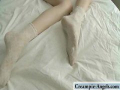 Young brunette gets wo...