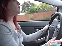 Redhead Emo car drivin... from DrTuber