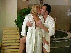 Hot Couple In The Sauna from DrTuber