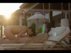 Erotic sex at sunset w...