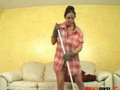Horny housewife enjoys...