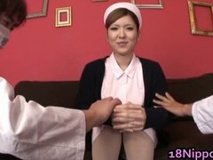 Hot Teen Asian Nurse e... from Tube8
