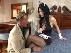 Busty maid has sex in fis...