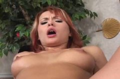 Thick cock gapes her a...