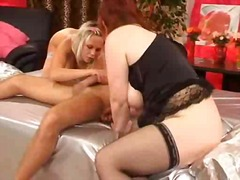 Hairy Mature In Threesome