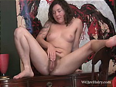 PornHub - Hairy girl Luca strips...