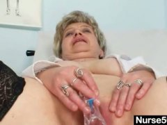 Busty granny in unifor... from PornerBros
