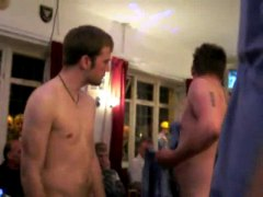English guys stripping...