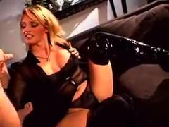 Handjob by blonde chic... from HardSexTube