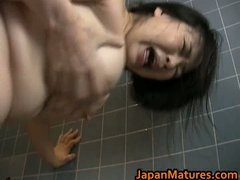 Busty Japanese mature ...