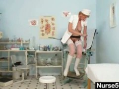 PornerBros - Old mom self exam on g...