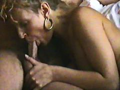 Retro blowjob with a b...