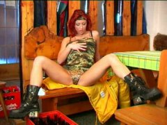 Redtube - Redhead playing with b...