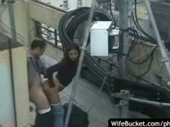 Funny sex on the roof