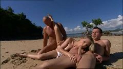 Honey at the beach fuc...