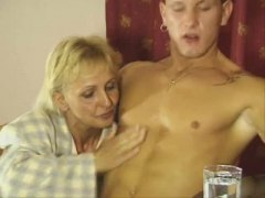Mature blonde pounded ...