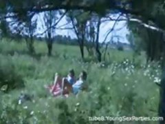 Group sex outdoors wit...