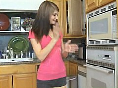 Brunette babysitter gets ...