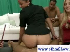 Cfnm girl learns how t...