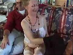 His mature wife stroke... from Alpha Porno