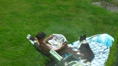 spy neighbour sunbathe2 from Xhamster