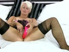 Toying cougar striptease