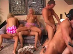 Hot MILF Foursome Assbanging