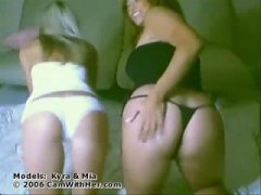 Hot lesbians stripping...