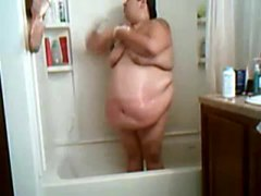 SSBBW in the shower