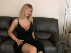 Big tit blonde mature ...