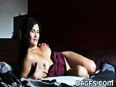 Busty brunette MILF po... from Nuvid