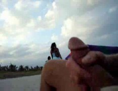 Xhamster - Wanking on the beach i...