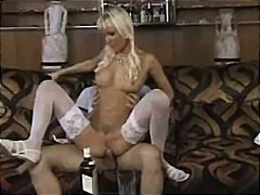 Horny blonde German ch...
