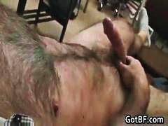 Very Hairy Guy Jerking...