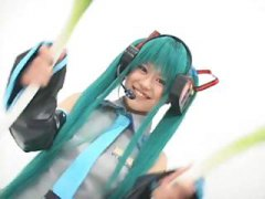 Green haired Japanese ...