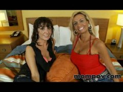 Two horny milfs share ...