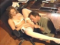 Sex in white lingerie ... from Tube8