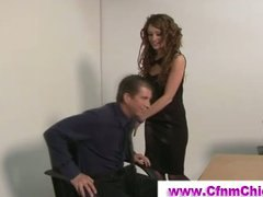 Cfnm babe gets licked ...