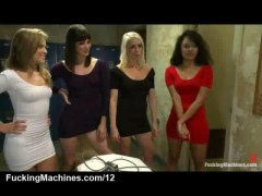 Four babes fuck machin... from HardSexTube